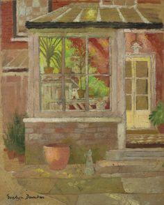 """""""The Garden Door"""" by Evelyn Dunbar, c.1933"""