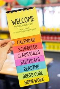 FREE Parent Flip Book Template + Astrobrights Colorize Your Classroom Contest (Kinder Craze) KOSTENLOSE Eltern-Flip-Book-Vorlage + Astrobrights Colorize Your Classroom Contest Welcome To Kindergarten, Kindergarten Classroom, Classroom Ideas, Future Classroom, Kindergarten Graduation, Kindergarten Orientation, Kindergarten Open House Ideas, Welcome To Preschool, Student Orientation