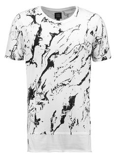Black Kaviar - ALFMOON - T-Shirt print - white
