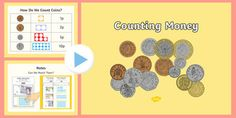 Maths Intervention Counting Money PowerPoint and Worksheet Pack Year 1 Maths, Early Years Maths, Primary Resources, Learning Resources, Money Week, Ks1 Maths, Autism Classroom, Classroom Ideas, Numicon
