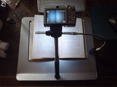 Picture of Copy stand for book scanning - just make one hole