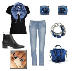 """""""Blue Monday Outfit"""" by direyna on Polyvore featuring Acne Studios, Mulberry, CÉLINE and Humble Chic"""