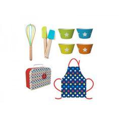 Miniamo Bright Colours Chef on the Go Set Apron Wisk Spatula Kids Preschool