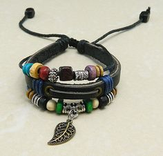 Adjustable  hipster jewelry leather bracelet with by goodlucky, $7.99