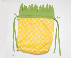 Pineapple Drawstring Backpack   Make It and Love It