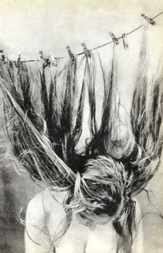 Interesting way of drying your hair...