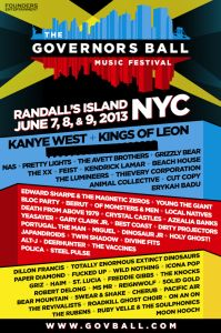 The Governors Ball #Music #Festival #Lineup | Jun. 7 - 9, 2013 | Randall's Island Park | New York, New York