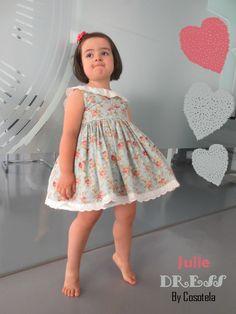 Primera presentación del patrón Julie Dress. Tallas 1 a 10 años.