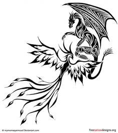 Modèle de Tattoo phoenix 5