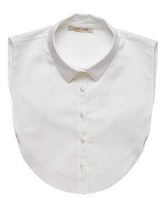 Pieces Shirt Collar Bib Transform your favourite outfit with this white shirt collar bib. It is designed to sit underneath all of your stylish tops. http://www.MightGet.com/january-2017-13/pieces-shirt-collar-bib.asp