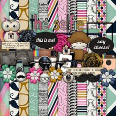 """FREE Harper Finch : """" The Selfie """" Kit [ two links for elements and patterns ]"""