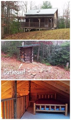 Enter this 576 square foot rustic retreat complete with outhouse!