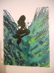 Hey, I found this really awesome Etsy listing at https://www.etsy.com/listing/95187628/mermaid-melted-crayon-painting