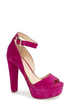 Jessica Simpson 'Athens' Ankle Strap Platform Sandal (Women) at Nordstrom.com. A flattering ankle strap tops a suede platform sandal detailed with a curvy topline, sky-high heel and flirty peep toe. $60