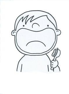 šablona - vykreslit a dolepit zuby ( fazole nebo bonbony tic - tac)