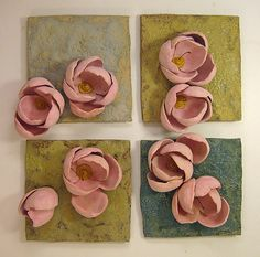 Rose Garden: Amy Meya: Ceramic Wall Art - Artful Home