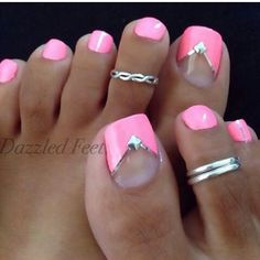 Gorgeous pedicure by Dazzled Feet