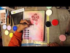 Art Journal Page Tutorial Using Pan Pastels Day 4 CED