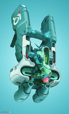 ArtStation - Air Surveillance, by Brian Sum More robots here.
