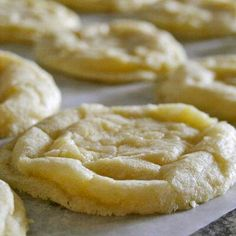 Lemon cookies - I just made these with a meyer lemon from my backyard.  They are very good, but I didn't get as many as Lauren estimated.  I think my scoop is larger than a tablespoon.