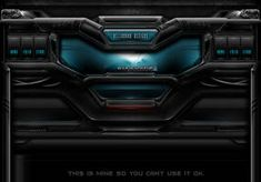 This sci-fi high tech web/game template interface design. This alien / predator themed design could be used as brower game interface etc. Game Interface, Interface Design, Nothing Left To Say, Code Wallpaper, War Machine, Website Template, Cool Designs, Sci Fi, Photoshop