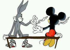 Effren the retarded rabbit and mickey