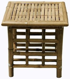 """Table Bamboo End 18""""Lx18""""Wx18""""H 