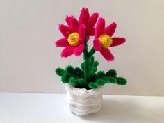 Pipe Cleaner Flower pot, DIY tutorial #19, kids crafts (my favorite) (モー...