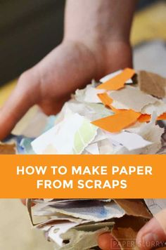 how to make paper from recycled scraps - DIY handmade paper (Diy Paper Making) Origami, Diy Recycling, Upcycle, Repurposing, Paper Art, Paper Crafts, Papier Diy, Copy Paper, Paperclay