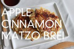From the Kitchen: Apple Cinnamon Matzo Brei Passover Recipes, Jewish Recipes, Paleo Recipes, Matzo Brei Recipe, Matzo Meal, Cinnamon Apples, What To Cook, International Recipes, Holiday Recipes