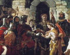 ~ My 22nd Great Grandparents ~ The marriage of Strongbow (Richard de Clare) and Aoife (Eva) by Irish painter Daniel Maclise.