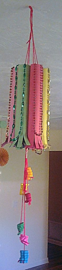 This Diwali Craft was contributed by Kajal who wanted to decorate the house with a homemade craft. My son wanted something dangling for Diwali Fireworks Craft For Kids, Fireworks Art, Diya Decoration Ideas, Diwali Decorations, Diwali Diya, Diwali Craft, New Year's Eve Crafts, July Crafts, Easy Crafts For Kids