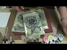 Scrapbooking Made Simple's Stacey Park has created a TERRIFIC video showing #Stampendous New Jumbo Cling Flowers with FREE Templates and @Imagine Crafts inks!