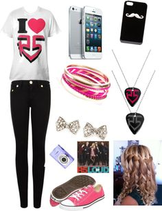 """Shelby's R5 concert outfit"" by kpthatsme ❤ liked on Polyvore"