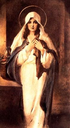 Mary Magdalene, seen here as a figure of great physical and spiritual beauty.