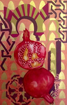 Pomegranate study by Christine Lawes.