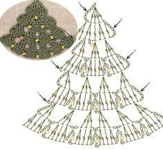 Christmas Tree Lace Crochet Motifs / 크리스마스트리 모티브도안 : 네이버 블로그 - Her Crochet Crochet Sock Pattern Free, Crochet Doily Diagram, Crochet Motif, Crochet Doilies, Crochet Flowers, Crochet Christmas Decorations, Crochet Christmas Ornaments, Christmas Crochet Patterns, Christmas Knitting