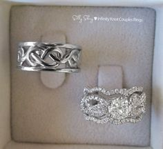 Couples Infinity Knot Wedding Bands Set. Engagement by SillyShiny, $1998.00 I love this!!