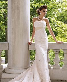 Discount David Tutera for Mon Cheri Wedding Dress Solange - US $359.00 : Cheap-Bridal.com