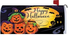Jack-O'-Lanterns in Costumes Mailbox Cover