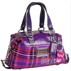Save on the Coach Shoulder Bag New Rare Poppy Tartan Luxey / Satchel! This satchel is a top 10 member favorite on Tradesy. See how much you can save Discount Coach Bags, Coach Handbags Outlet, Cheap Coach Bags, Coach Purses, Coach Outlet, Coach Tote, Suede Handbags, Gucci Handbags, Purses And Handbags