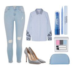 """""""OfficeLine"""" by medvedevalala on Polyvore featuring мода, River Island, Gianvito Rossi, Tory Burch, RMK, Elemis, Stila, Lipstick Queen и Smythson"""
