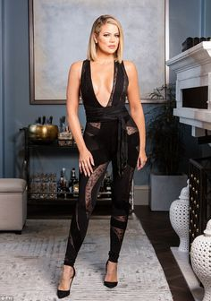 Hostess with the mostess: Koko rocked a sexy plunging jumpsuit for the show