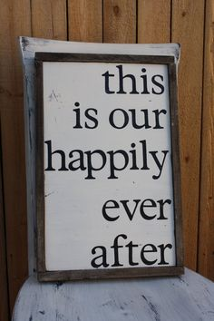 RUSTIC framed wood sign this is our happily by LegallyTwinsane, $40.00