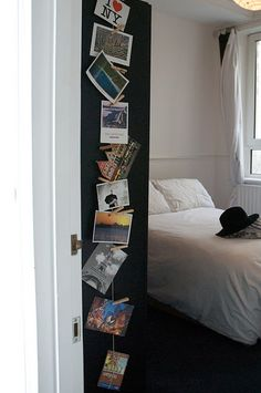 Creative Postcard/Photo Display... good to keep in mind for printing off travel photos