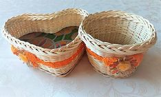 Pedigmania / sada ORANŽÁDA Wicker Baskets, Home Decor, Homemade Home Decor, Decoration Home, Woven Baskets, Interior Decorating