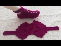 Çeyizlik incili iki şiş patik modeli yapılışı - YouTube Crochet Jumper Pattern, Boho Crochet Patterns, Crochet Slipper Pattern, Baby Knitting Patterns, Knitting Stiches, Baby Hats Knitting, Knitting Socks, Knit Baby Booties, Booties Crochet