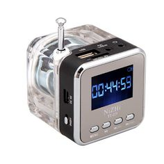 Digital Portable Mini Speaker Music MP3/4 Player Micro SD/TF USB Disk Speaker FM Radio LCD Display