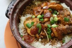 I LOVE this dish!!! Vietnamese clay pot chicken and rice