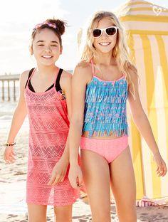 Kids swimwear, summer swimwear, preteen fashion, girl fashion, kids out Summer Outfits For Teens, Kids Outfits, Cute Outfits, Preteen Fashion, Kids Fashion, Fashion Outfits, Trendy Swimwear, Kids Swimwear, Summer Swimwear